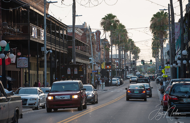 Looking West along 7th Avenue in Ybor City today, Thursday 6/11/15.<br />