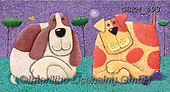 Kate, CUTE ANIMALS, LUSTIGE TIERE, ANIMALITOS DIVERTIDOS, paintings+++++Cats & dogs page 19 2,GBKM493,#ac#, EVERYDAY ,dog,dogs