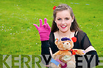 Pictured at the Young Entrepreneur Awards in the Malton Hotel on Thursday evening, from left: Katie McCarthy from Presentation Secondary School, Tralee with Sun Sign Bear a prototype bear that will help teach deaf children sign language..