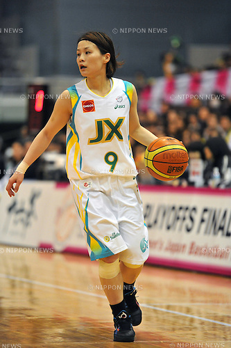 Akane Niihara (Sunflowers), .MARCH 6, 2012 - Basketball :The 13th Women's Japan Basketball League Playoffs Final Game #4 between JX Sunflowers 77-66 Toyota Antelopes at Funabashi Arena, Chiba, Japan. (Photo by Jun Tsukida/AFLO SPORT) [0003].