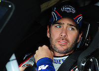 May 1, 2009; Richmond, VA, USA; NASCAR Sprint Cup Series driver Jimmie Johnson during practice for the Russ Friedman 400 at the Richmond International Raceway. Mandatory Credit: Mark J. Rebilas-