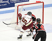 Alex Carpenter (BC - 5), Florence Schelling (Northeastern - 41) - The Northeastern University Huskies defeated the Boston College Eagles in a shootout on Monday, January 31, 2012, in the opening round of the 2012 Women's Beanpot at Walter Brown Arena in Boston, Massachusetts. The game is considered a 1-1 tie for NCAA purposes.