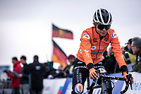 Ceylin Del Carmen Alvarado (NED)  pre race during warm-up<br /> <br /> Women's Elite Race<br /> UCI 2020 Cyclocross World Championships<br /> Dübendorf / Switzerland<br /> <br /> ©kramon