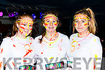Saidbh Brennan, Rachel Mangan and Leah Turner at the Killarney Glow Neon run on Saturday night