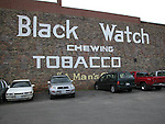 Restored antique tobacco sign