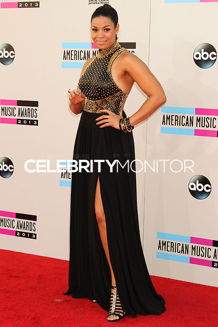 LOS ANGELES, CA - NOVEMBER 24: Jordin Sparks arriving at the 2013 American Music Awards held at Nokia Theatre L.A. Live on November 24, 2013 in Los Angeles, California. (Photo by Celebrity Monitor)