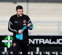 Fleetwood Town's first team coach Andy Mangan during the pre-match warm-up<br /> <br /> Photographer Chris Vaughan/CameraSport<br /> <br /> The EFL Sky Bet League One - Saturday 23rd February 2019 - Burton Albion v Fleetwood Town - Pirelli Stadium - Burton upon Trent<br /> <br /> World Copyright © 2019 CameraSport. All rights reserved. 43 Linden Ave. Countesthorpe. Leicester. England. LE8 5PG - Tel: +44 (0) 116 277 4147 - admin@camerasport.com - www.camerasport.com