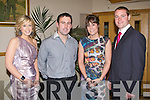 SOCIAL: Enjoying a great time at the Kerins O'Rahillys annual social at Strand Road, Tralee on Saturday l-r: Kelly-Ann Roantree, John O'Connor and Erika and Declan Quill..