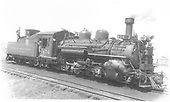 Right front view of K-28 #474 in Gunnison.<br /> D&amp;RGW  Gunnison, CO  Taken by Smallwood, C. - 7/11/1940