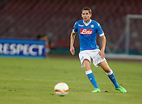 Napoli's Jorginho  during the Europa  League Group D soccer match against Brugge   at the San Paolo  Stadium in Naples September 17, 2015
