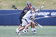 Annapolis, MD - February 11, 2017: Navy Midshipmen Brady Dove (55) wins the faceoff during game between Maryland vs Navy at  Navy-Marine Corps Memorial Stadium in Annapolis, MD.   (Photo by Elliott Brown/Media Images International)