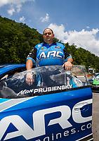 Jun 17, 2017; Bristol, TN, USA; NHRA pro stock driver Alan Prusiensky during qualifying for the Thunder Valley Nationals at Bristol Dragway. Mandatory Credit: Mark J. Rebilas-USA TODAY Sports