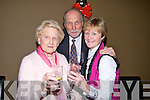 NIGHT OUT: Anna Buckley, John Daniels and Jean Buckley who had a night out on Friday night to brin in the New Year in The Holy Cow, Restaurant, Tralee...... . ............................... ..........