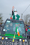 Danny Houlihan (piper) and Mark O'Callaghan (St Patrick who led the Abbeydorney St Patricks Day Parade on Monday.