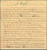 """BNPS.co.uk (01202 558833).Pic: FameBureau/BNPS..Handwritten lyris for """"Aint it Sad'...Get me Wonga.....A 'lost' archive of original music manuscripts, contracts and pictures of the Beach Boys has emerged for sale for nearly seven million pounds...The vast collection, that spans the first 20 years of the band's hugely successful career and consists of thousands of documents, was found forgotten in a storage unit...The treasure trove includes the sheet music for the Beach Boys' classic hits like 'God Only Knows', 'Good Vibrations' and 'Fun, Fun, Fun.'..It also includes handwritten lyrucs, recording contracts and copyright certificates signed by Brian Wilson and Mike Love, musical arrangements, royalty cheques and personal letters...And there are more than 60 behind-the-scenes photos of the hugely successful American rock band, many of them never seen before.."""
