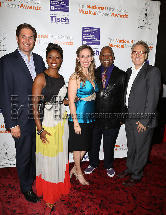 The Judges: Nick Scanndalios, Montego Glover, Rachel Hoffman, Kent Gash and Bernie Telsey attending The 5th Annual National High School Musical Theater Awards (aka The Jimmy Awards) at Minskoff Theater on July 1, 2013 in New York City.