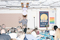 Democratic presidential candidate and Congressional Representative Eric Swalwell (D-CA 15th) speaks at the Milford Democrats' Potluck Supper at the Unitarian Universalist Congregation Church in Milford, New Hampshire, USA, on Sat., Apr. 6, 2019. Swalwell is running primarily on gun control issues.