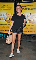 "Amber Davies at the ""9 To 5 The Musical"" theatre cast stage door departures, Savoy Theatre, The Strand, London, England, UK, on Monday 01st July 2019.<br /> CAP/CAN<br /> ©CAN/Capital Pictures"