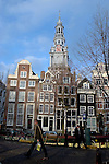Zuiderkerkhof, Church, street scene Amsterdam, on a bright December, 2006