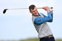 David Brady (Co.Sligo) on the 9th tee during Round 2 of The East of Ireland Amateur Open Championship in Co. Louth Golf Club, Baltray on Sunday 2nd June 2019.<br /> <br /> Picture:  Thos Caffrey / www.golffile.ie<br /> <br /> All photos usage must carry mandatory copyright credit (© Golffile   Thos Caffrey)