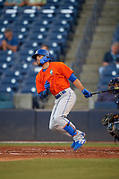 St. Lucie Mets Desmond Lindsay (2) at bat during a Florida State League game against the Tampa Tarpons on April 10, 2019 at George M. Steinbrenner Field in Tampa, Florida.  St. Lucie defeated Tampa 4-3.  (Mike Janes/Four Seam Images)
