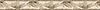 "4"" Acanthus border, a hand-cut stone mosaic, shown in polished Emperador Dark, Emperador Light, Botticino, Ivory Cream."