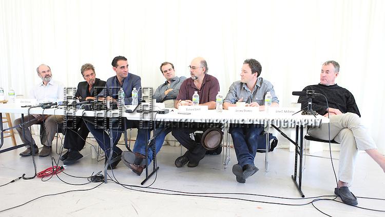 Director Daniel Sullivan, Al Pacino, Bobby Cannavale, David Harbour, Richard Schiff, Jeremy Shamos & John C. McGinley attending the 'Glengarry Glen Ross' Media Day at Ballet Hispanico Rehearsal Studios in New York City on 9/19/2012.