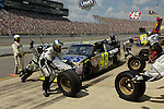 17 August 2008: Jimmie Johnson pits during the 3M Performance 400 at Michigan International Speedway, Brooklyn, Michigan, USA.