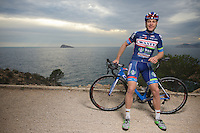 pre-2016 season portrait of Antoine Demoitié (BEL/Wanty-Groupe Gobert) who was involved in a crash during Gent-Wevelgem and were he got hit by a motorbike that couldn't avoid a collision.<br />