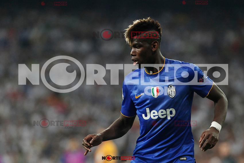 Juventus´s Pogba during the Champions League semi final soccer match between Real Madrid and Juventus at Santiago Bernabeu stadium in Madrid, Spain. May 13, 2015. (ALTERPHOTOS/Victor Blanco) /NortePhoto.COM