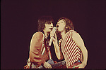 Rolling Stones 1976  Mick Jagger & Ron Wood..