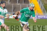 Padraig Boyle of Ballyduff in action against John Browne Kanturk in the semi final of the Munster Intermediate Club championship.