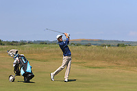 Marcos Montenegro (ARG) on the 2nd fairway during Round 2 of the East of Ireland Amateur Open Championship 2018 at Co. Louth Golf Club, Baltray, Co. Louth on Sunday 3rd June 2018.<br /> Picture:  Thos Caffrey / Golffile<br /> <br /> All photo usage must carry mandatory copyright credit (&copy; Golffile | Thos Caffrey)