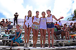 MIAMI BEACH, FL - FEBRUARY 20: Samantha Hoopes, Lauren Mellor, Hannah Ferguson and Valerie Van Der Graaf participates in Sports Illustrated Swimsuit 2014 Beach Volleyball:Models & Celebrity Chefs on February 20, 2014 in Miami Beach, Florida. (Photo by Johnny Louis/jlnphotography.com)