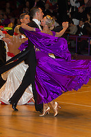 John Giannini and Katherine Giannini from Great Britain perform their dance during the Under 21 ballroom competition of the International Championships held in Brentwood International Centre, Brentwood, United Kingdom. Tuesday, 19. October 2010. ATTILA VOLGYI