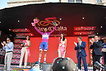 Fernando Gaviria (COL) Quick-Step Floors wins the points classification Maglia Ciclamino at the end of Stage 21 the final stage of the 100th edition of the Giro d'Italia 2017, an individual time trial running 29.3km from Monza Autodrome to Milan Duomo, Italy. 28th May 2017.<br /> Picture: LaPresse/Gian Mattia D'Alberto | Cyclefile<br /> <br /> <br /> All photos usage must carry mandatory copyright credit (&copy; Cyclefile | LaPresse/Gian Mattia D'Alberto)