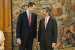 King Felipe VI of Spain (L) receives Supreme Tribunal and Justice General Conceil President Carlos Lesmes Serrano during an audience at Zaruzela Palace in Madrid, Spain. June 23, 2013. (ALTERPHOTOS/Victor Blanco)