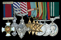 BNPS.co.uk (01202 558833)<br /> D&W/BNPS<br /> <br /> PICTURED: David Dennis's medals<br /> <br /> The gallantry medals of a World War Two pilot who survived an incredible 105 bombing sorties have sold for over £17,000.<br /> <br /> Wing Commander David Dennis helped take out 8,000 tonnes of German shipping during the four years he flew in Bomber Command.<br /> <br /> His huge tally of raids on Nazi targets over Germany, Holland and France defied the odds, given that the fatality rate of Bomber Command crew was nearly 45 per cent. Of the 125,000 airmen who served, 55,000 were killed.<br /> <br /> Many casualties perished in their first handful of raids and to complete one tour - 30 sorties - was considered a major achievement. Wg Cdr Dennis' total was the equivalent of three and half tours, <br /> <br /> His medal group, including the Distinguished Service Order and Distinguished Flying Cross with Bar, was sold with auction house Dix Noonan Webb of London.