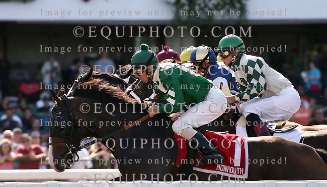 Thoroughbred action at Monmouth Park in Oceanport, New Jersey. Photo By Bill Denver/EQUI-PHOTO.