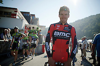 Greg Van Avermaet (BEL/BMC) at the start in Chaudfontaine<br /> <br /> Grand Prix de Wallonie 2014