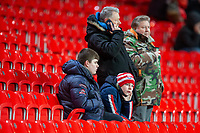 12th February 2020; Bet365 Stadium, Stoke, Staffordshire, England; English Championship Football, Stoke City versus Preston North End; Stoke fans on a cold night at the Bet365 Stadium