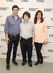 Gary Wilmes, Seth Steinberg and Kate Walsh attend the 'If I Forget' cast photocall at the Roundabout Rehearsal Studios on January 12, 2017 in New York City.
