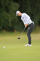 Sung Hyun Park (KOR) on the 1st green during Round 3 of the Ricoh Women's British Open at Royal Lytham &amp; St. Annes on Saturday 4th August 2018.<br /> Picture:  Thos Caffrey / Golffile<br /> <br /> All photo usage must carry mandatory copyright credit (&copy; Golffile | Thos Caffrey)