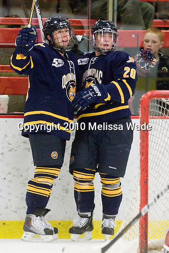 Clay Harvey (Quinnipiac - 39), Kellen Jones (Quinnipiac - 20) - The visiting Quinnipiac University Bobcats defeated the Harvard University Crimson 3-1 on Wednesday, December 8, 2010, at Bright Hockey Center in Cambridge, Massachusetts.