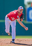 28 February 2016: Washington Nationals pitcher Max Scherzer on the mound during an inter-squad pre-season Spring Training game at Space Coast Stadium in Viera, Florida. Mandatory Credit: Ed Wolfstein Photo *** RAW (NEF) Image File Available ***