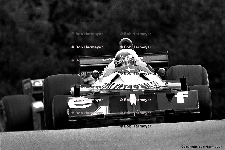 BOWMANVILLE, ONT - OCTOBER 9: Patrick Depailler drives the Tyrrell P34 7/Ford Cosworth DFV during the Canadian Grand Prix on October, 9, 1977, at Mosport Park near Bowmanville, Ontario.