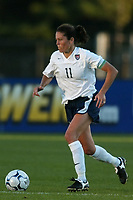 Julie Foudy captain of the USWNT. The USWNT defeated Russia 5-1 on  September 29, at Mitchel Athletic Complex, Uniondale, NY.