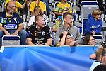 Kristianstads Arnarsson Arnar Freyr und rechts Henningsson Philip nach roten Karten sitzend in den Zuschauerrängen beim Spiel in der Champions League, Rhein Neckar Loewen - IFK Kristianstad.<br /> <br /> Foto © PIX-Sportfotos *** Foto ist honorarpflichtig! *** Auf Anfrage in hoeherer Qualitaet/Aufloesung. Belegexemplar erbeten. Veroeffentlichung ausschliesslich fuer journalistisch-publizistische Zwecke. For editorial use only.