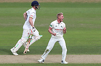 Luke Wood of Nottinghamshire celebrates taking the wicket of Matt Coles during Nottinghamshire CCC vs Essex CCC, Specsavers County Championship Division 1 Cricket at Trent Bridge on 11th September 2018