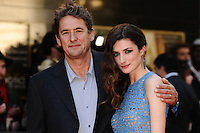 Tim Bevan and daughter, actress Daisy Bevan arriving for the UK Premiere of The Two Faces of January<br /> Curzon Cinema, Mayfair, London. 13/05/2014 Picture by: Steve Vas / Featureflash